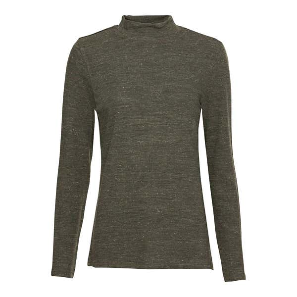Damen-Sweatshirt in Melange-Optik