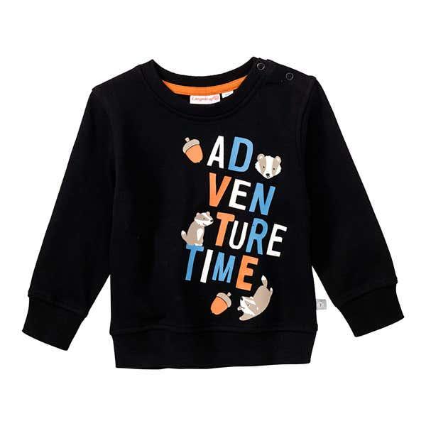 Baby-Jungen-Sweatshirt mit Frontaufdruck