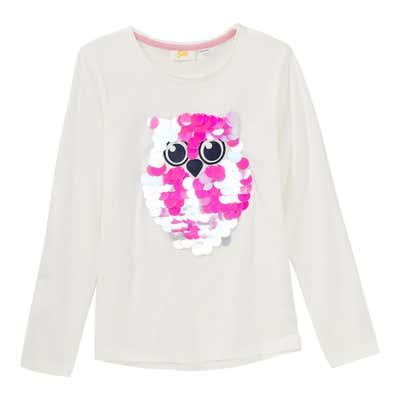 Mädchen-Shirt mit Wendepailletten