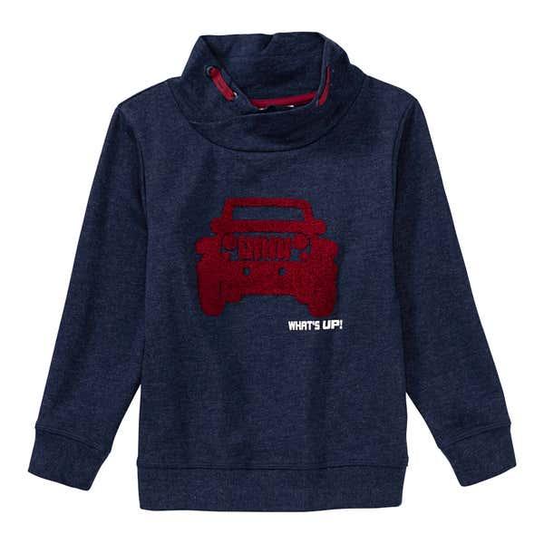 Jungen-Sweatshirt mit Auto-Applikation
