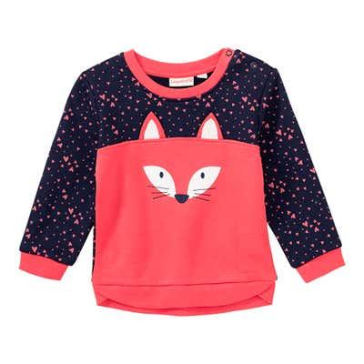 Baby-Mädchen-Sweatshirt mit Fuchs-Applikation