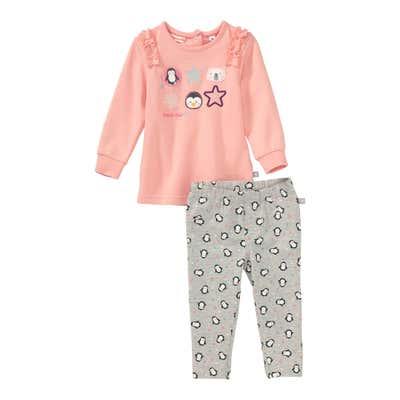 Baby-Mädchen-Set mit Pinguin-Muster, 2-teilig