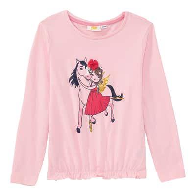 Mädchen-Shirt mit Ballerina-Frontaufdruck