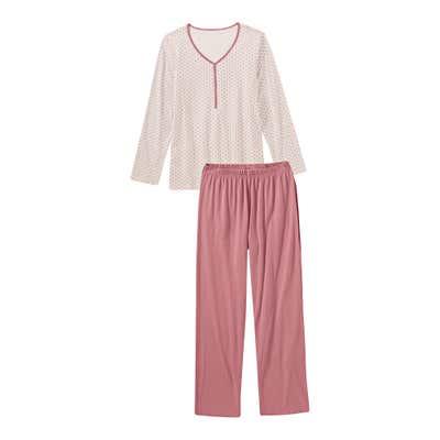 Damen-Schlafanzug mit schickem Muster, 2-teilig