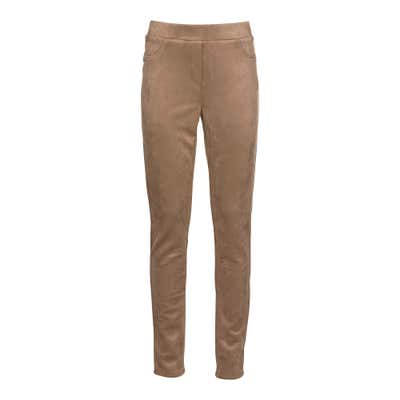Damen-Leggings in Veloursleder-Optik