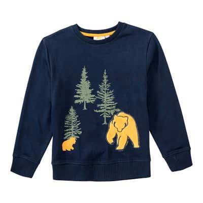 Jungen-Sweatshirt mit Bären-Applikation