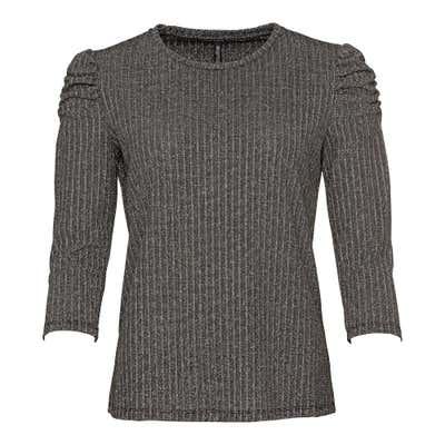 Damen-Shirt mit Silberglitzer-Effekt