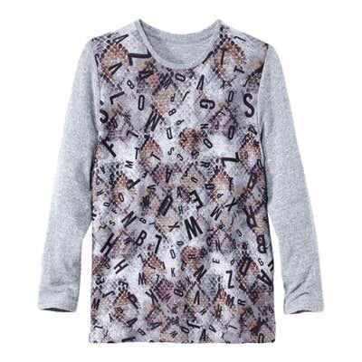 Damen-Sweatshirt mit stylischem Buchstaben-Druck