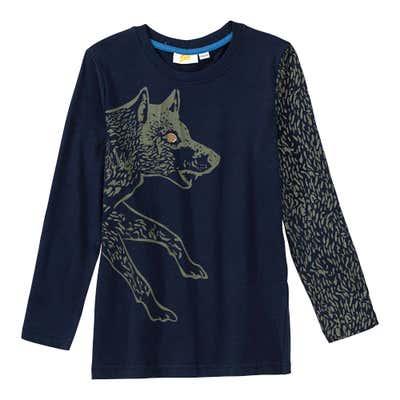Jungen-Shirt mit Wolfs-Aufdruck