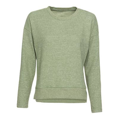 Damen-Sweatshirt mit Ripp-Bund