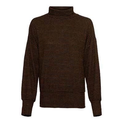 Damen-Sweatshirt mit Struktur-Muster