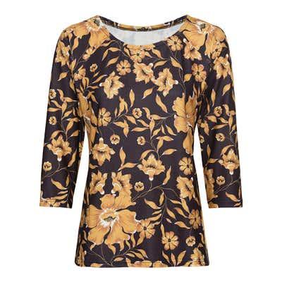 Damen-Shirt mit floralem Design