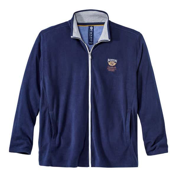 Herren-Sweatshirt mit schönem Kontrast-Reißverschluss, große Größen