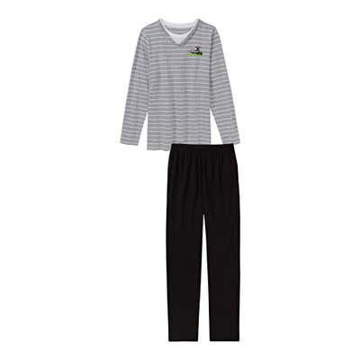 Jungen-Schlafanzug mit Ringelmuster, 2-teilig