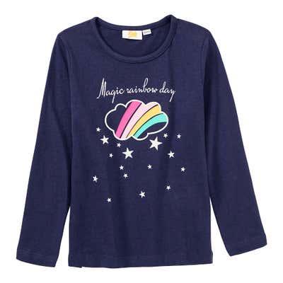 Mädchen-Shirt mit Regenbogenwolke