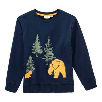 Jungen-Shirt mit Bären-Applikation