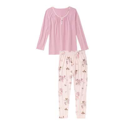 Damen-Schlafanzug aus reiner Baumwolle, 2-teilig