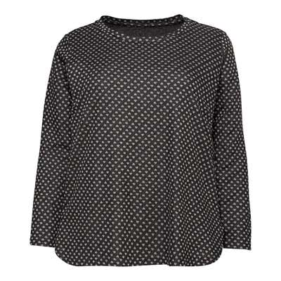 Damen-Sweatshirt mit Jacquard-Herzmuster, große Größen
