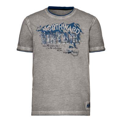 Herren-T-Shirt in Oil-Washed-Optik