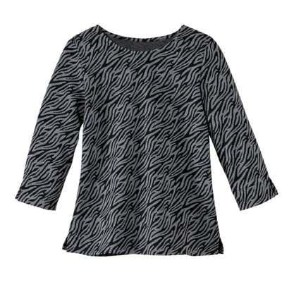Damen-Shirt mit Jacquard-Muster