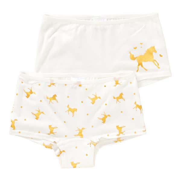 Mädchen-Panty mit Pferde-Muster, 2er Pack