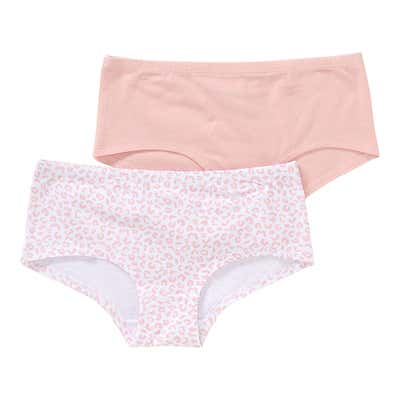 Mädchen-Panty mit Leo-Muster, 2er Pack