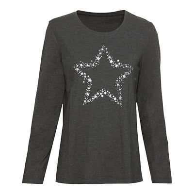 Damen-Schlafshirt mit Sternen-Aufdruck