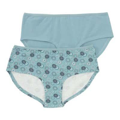 Damen-Panty mit Blumendesign, 2er Pack