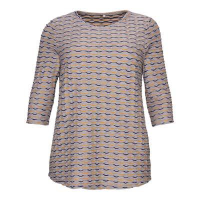 Damen-Shirt mit Wellendesign, große Größen