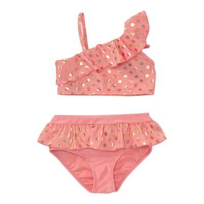 Mädchen-Bikini mit Punkte-Muster, 2-teilig