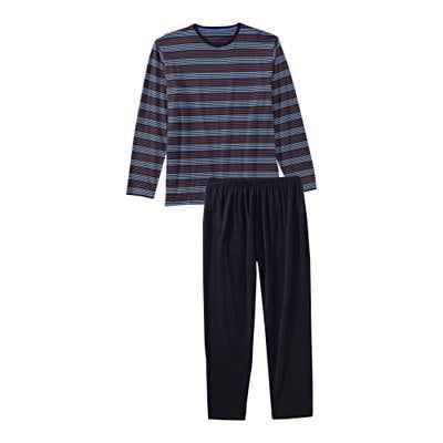 Herren-Schlafanzug mit Streifendesign, 2-teilig