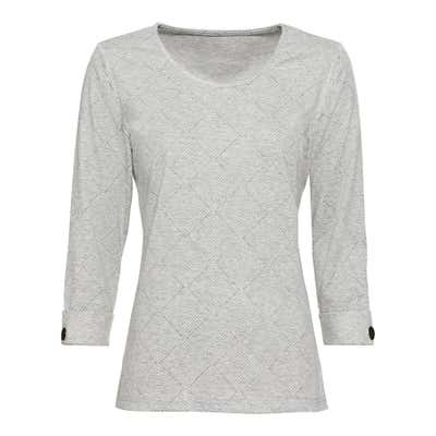 Damen-Sweatshirt in Jacquard-Optik