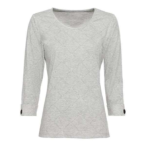 Damen-Sweatshirt in Jacquard-Optik
