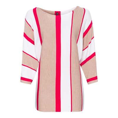 Damen-Pullover mit Blockstreifen-Design