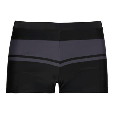 Herren-Badehose mit grauem Kontrast-Streifen