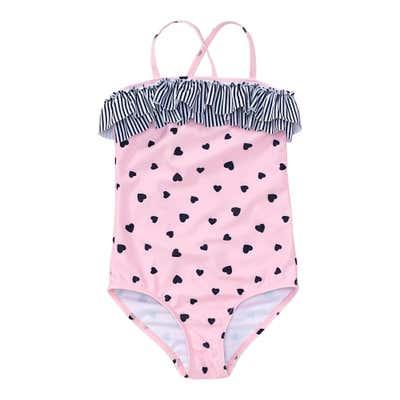 Mädchen-Badeanzug mit Herzchen