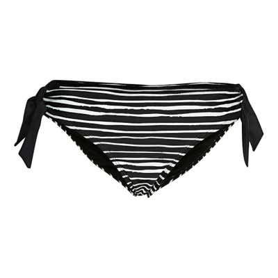 Damen-Bikinihose mit seitlichen Zierbändern