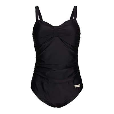 Damen-Badeanzug mit seitlicher Raffung