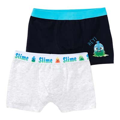 Jungen-Retroshorts mit Monster-Design, 2er-Pack