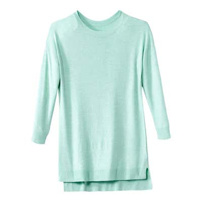 Damen-Pullover mit Viskose und Vokuhila-Saum