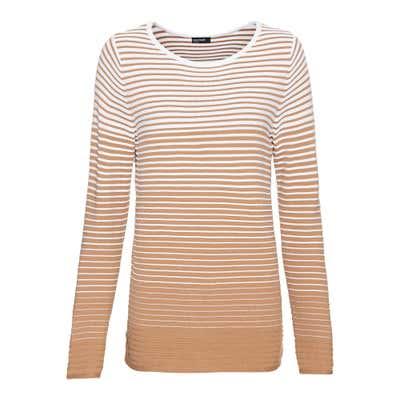 Damen-Pullover mit Streifenstruktur