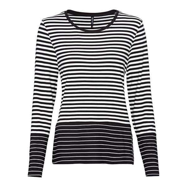 Damen-Sweatshirt mit trendigem Ringel-Design