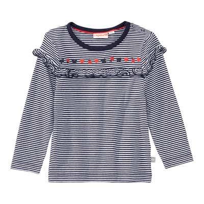 Baby-Mädchen-Shirt mit Ringelmuster