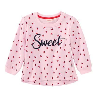 Baby-Mädchen-Sweatshirt mit Marienkäfer-Muster