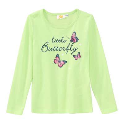 Mädchen-Shirt mit Schmetterlings-Aufdruck