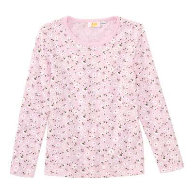 Mädchen-Shirt mit Blümchen-Muster