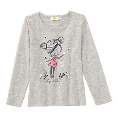 Mädchen-Shirt in Melange-Optik