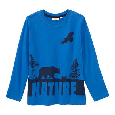 Jungen-Shirt mit Wald-Motiv