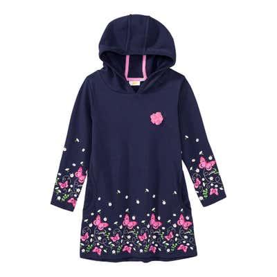 Mädchen-Sweatkleid mit Kapuze