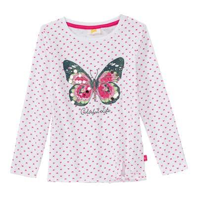 Mädchen-Shirt mit Glitzer-Schmetterling